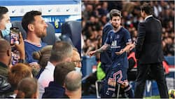 Lionel Messi Snubs Pochettino Handshake After Being Subbed Off During PSG Clash