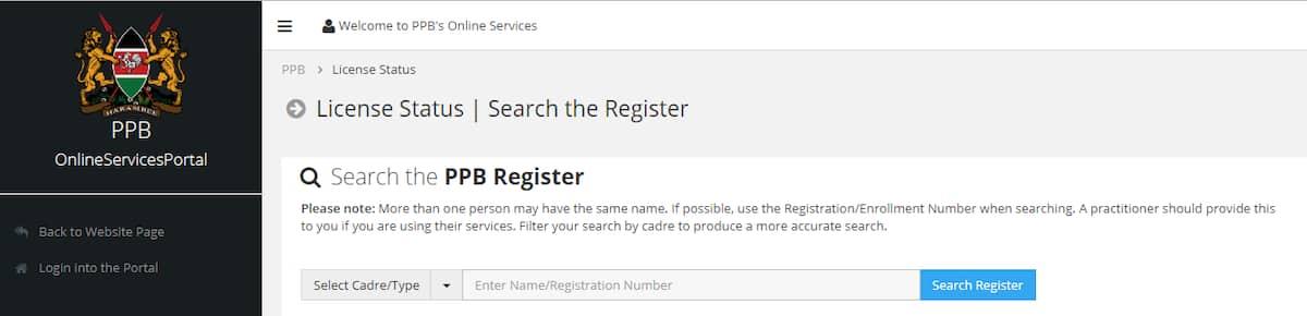 PPB student portal log in, register, license, downloads
