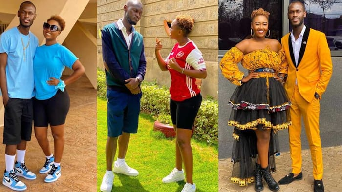 King Kaka, Nana Owiti Step Out in Matching Outfits to Cheer Harambee Starlets