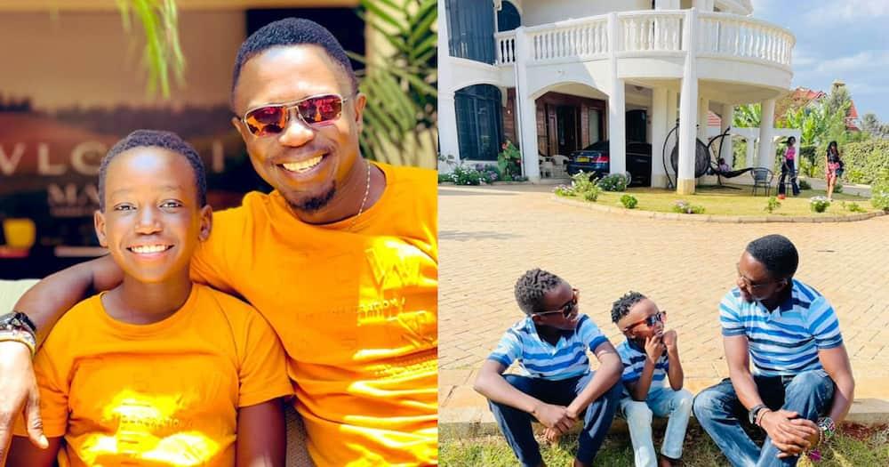 Ababu Namwamba with his sons.