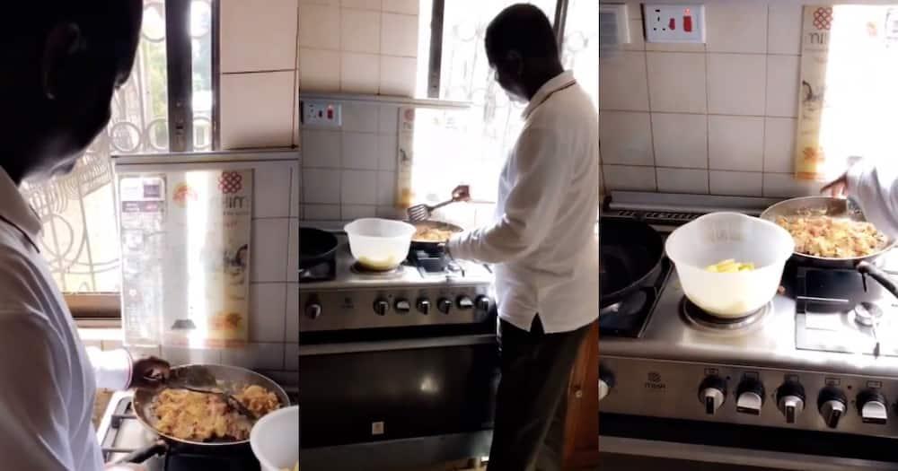 Raila Odinga prepares breakfast for family on Christmas Day