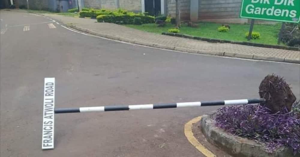 Kileleshwa: Bango la Atwoli Road Lajengwa Tena Baada ya Kuteketezwa