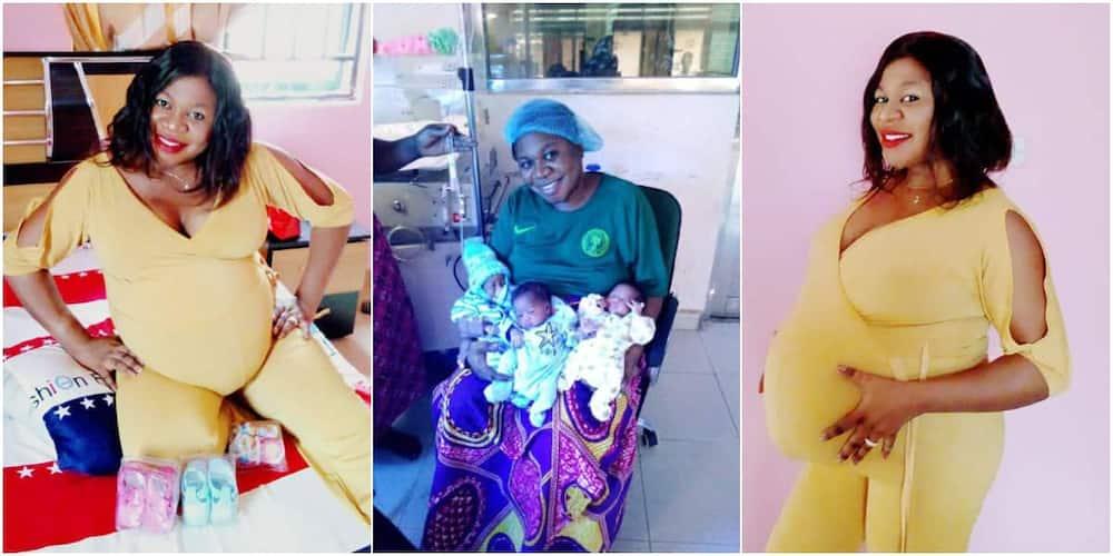 Helen Bello recently welcomed triplets