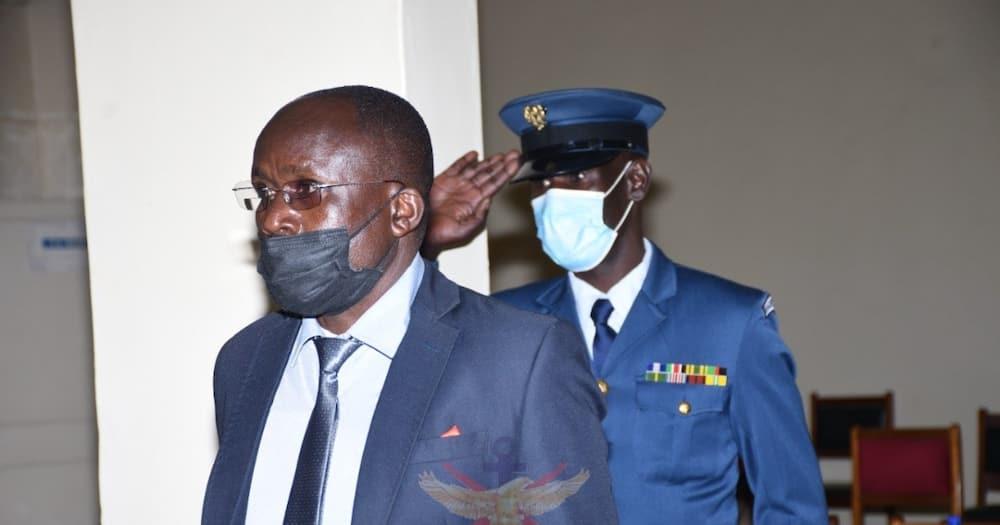 Two KDF servicemen were arraigned in Kahawa Garrison Court Martial.