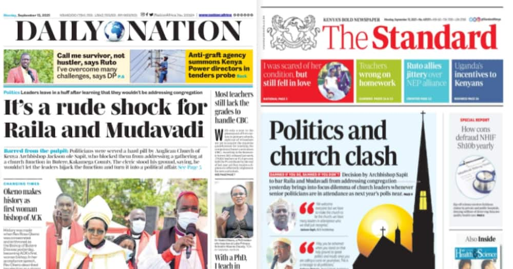 Kenyan Newspapers Review: The Anglican Church of Kenya (ACK) has vowed to deny politicians the chance to politick in the churches.