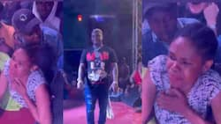 Harmonize's Die-Hard Fan Overwhelmed by His Performance, Begs Singer to Hold Her Hand