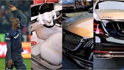 Nigerian footballer flaunts gold-plated Mercedes-Maybach S650 Sedan worth KSh 23 million