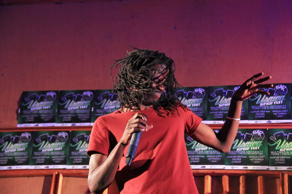 Juliani is known for his signature energy on stage, which includes shaking his head vigorously.
