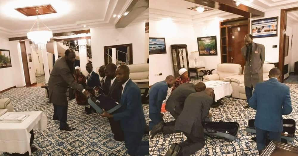 Pictures of Prophet Owuor's followers kneeling before him causes a stir online
