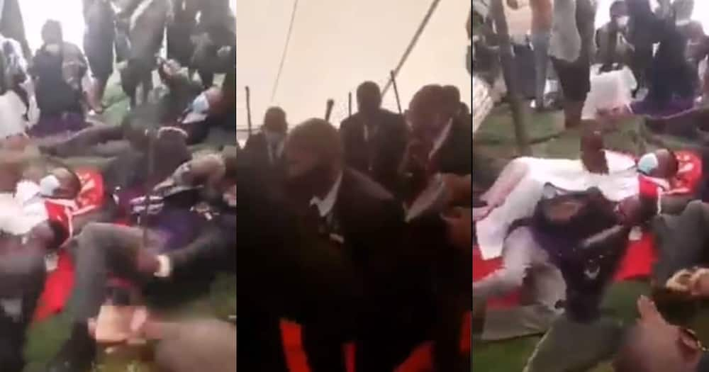 """""""Easter Was Lit"""": Netizens Responds to Funny Clip of Church Members Breaking It Down"""