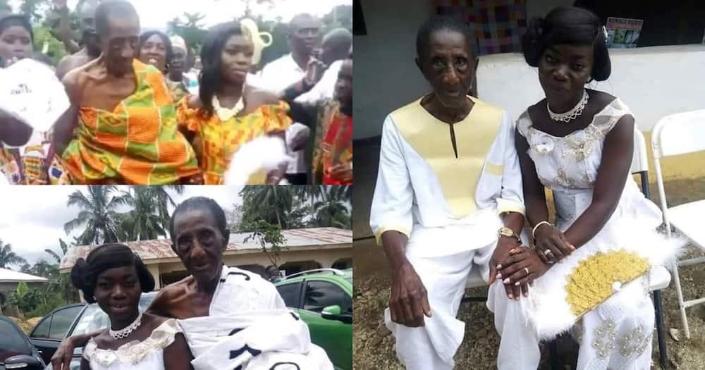 Shangwe huku babu wa miaka 106 akimuoa mrembo mwenye miaka 35