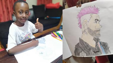 Nimrod Taabu Proudly Shows Off Young Son's Artistic Prowess in Touching Photos