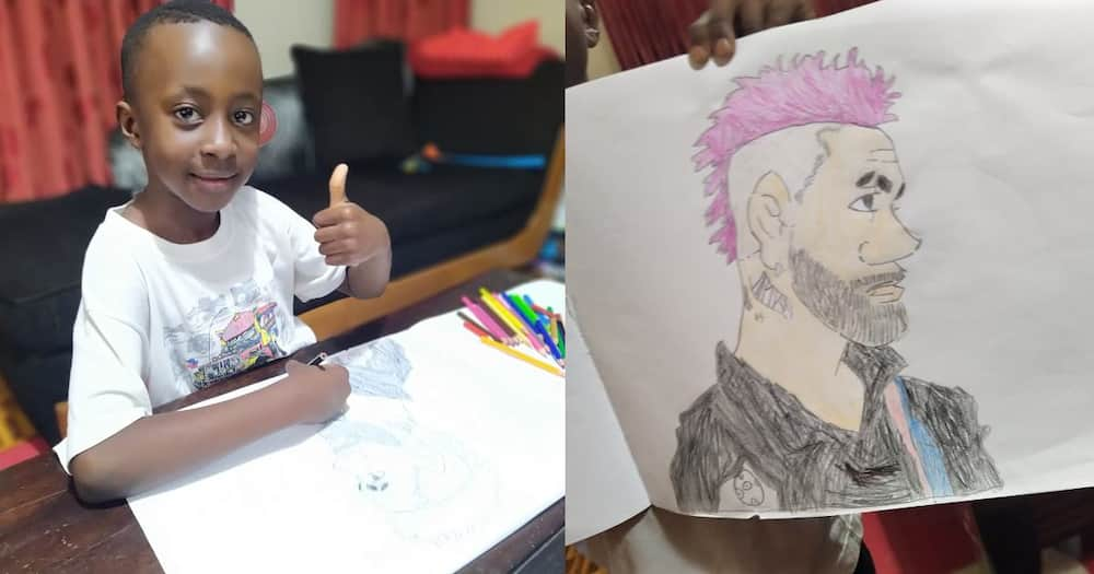 News presenter Nimrod Taabu shares photos revealing his son's artistic prowess.