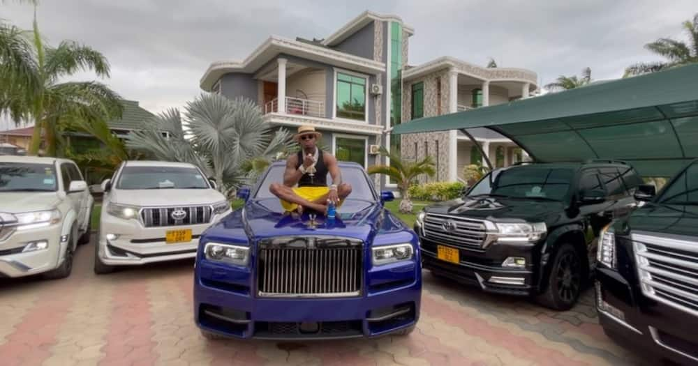 Diamond's dad Mzee Abdul is not interested in his son's cars.