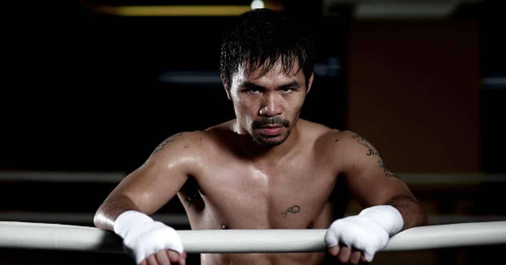 Manny Pacquiao poses for a portrait during a training session at the Elorde boxing Gym on May 19, 2017 in Manila, Philippines. (Photo by Chris Hyde/Getty Images)