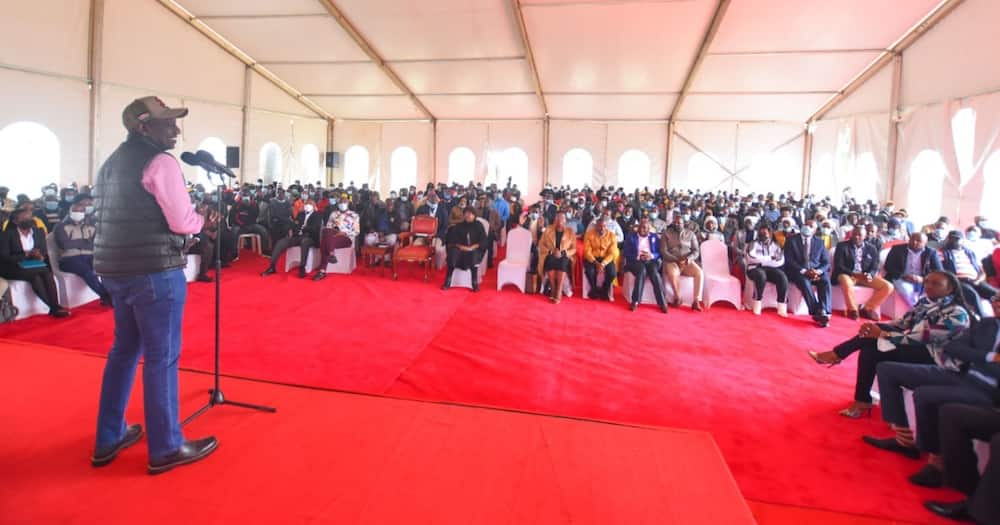 William Ruto maintained his government would focus on small scale traders.