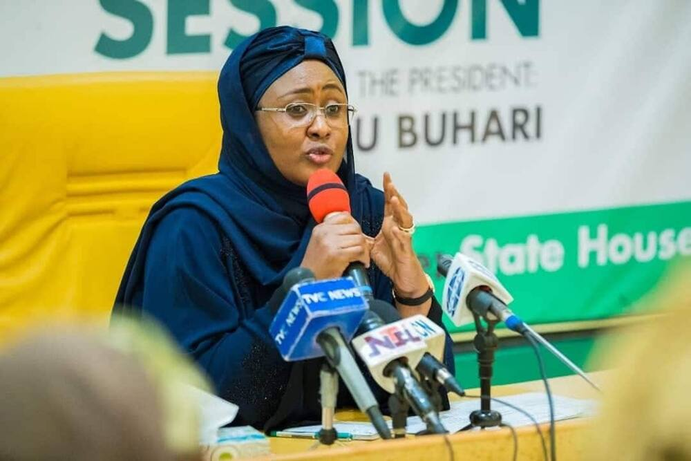 Aisha Buhari reacts to Twitter ban, makes last emotional tweet to Nigerians