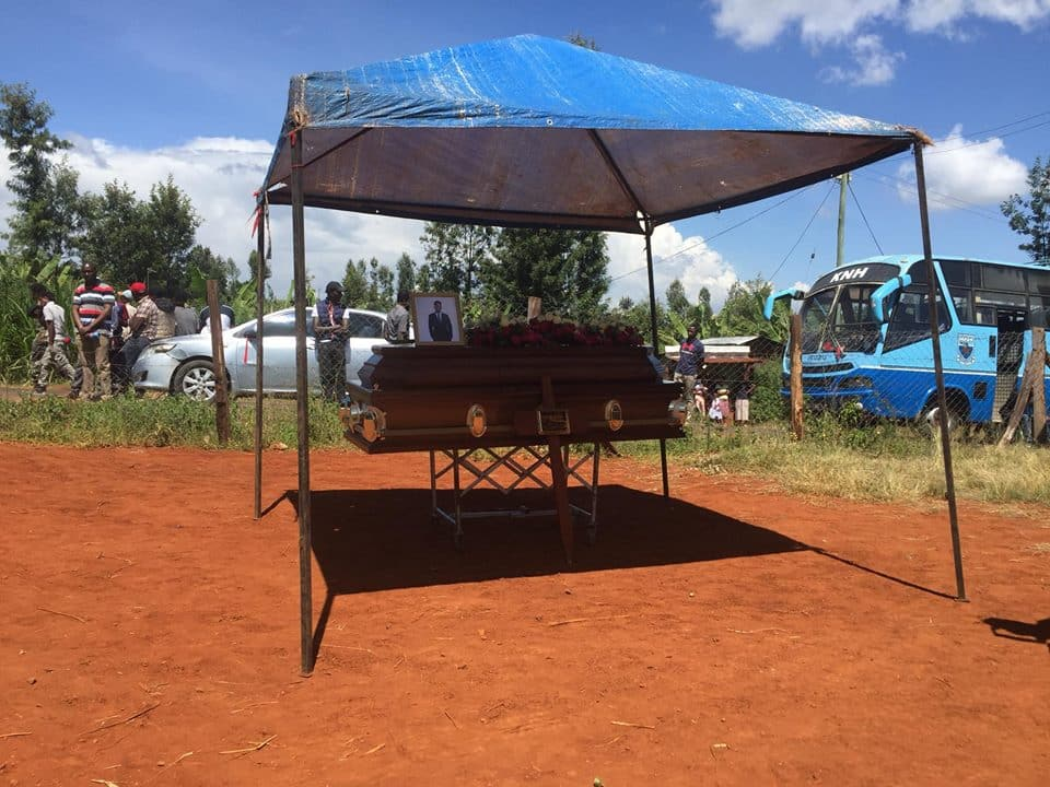 Tears flow freely as slain Leeds University student is buried in Murang'a