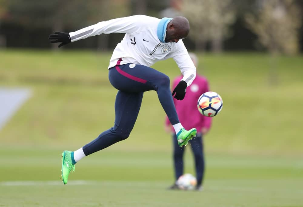 Three-time Premier League winner Yaya Toure spotted training with League Two club