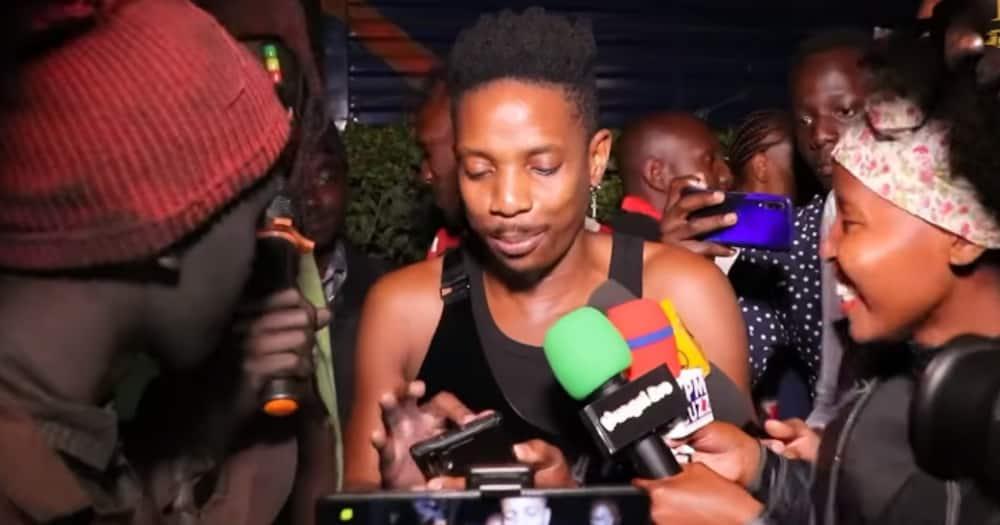 Eric Omondi gave his belongings to street kid musician Gathimiti.