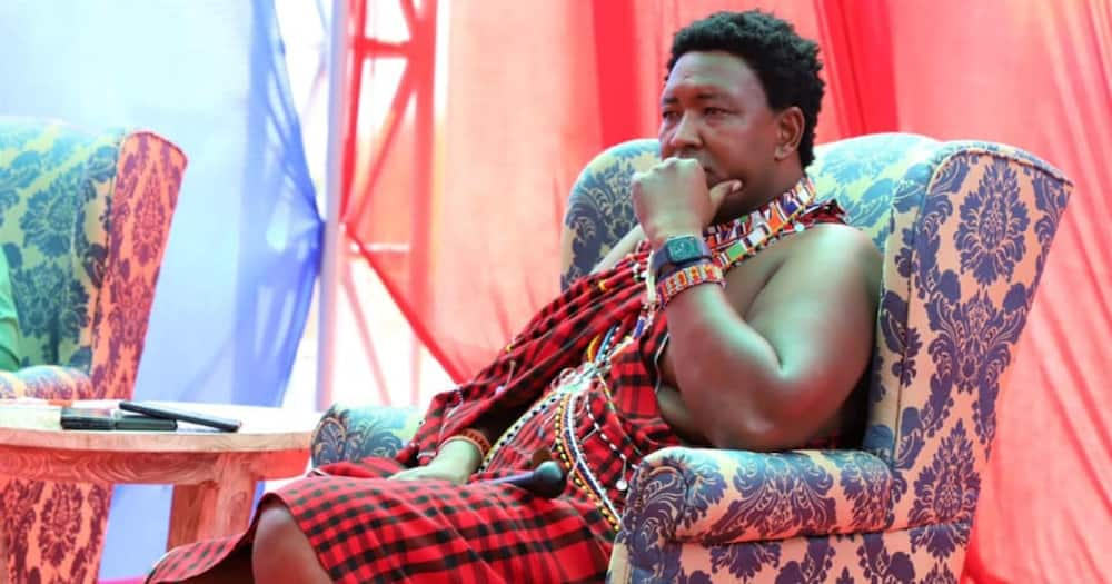 Ledama Ole Kina in deep thought at a past event.