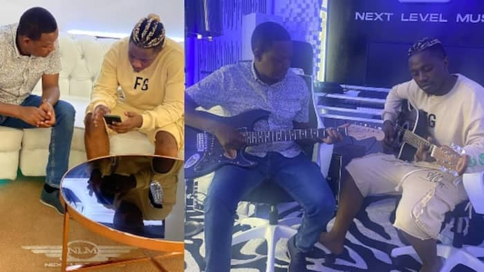 Alfred Mutua Hangs out With Rayvanny at His Studio, Promises to Work with Musician
