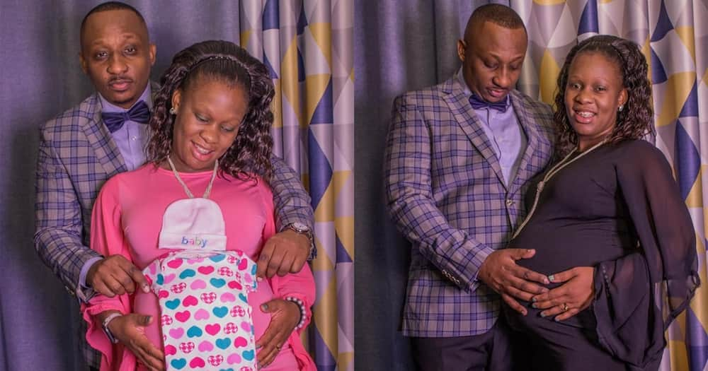 Bamboo and Ugandan Wife Erica Mukisa in a baby bump shoot