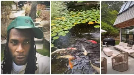 Burna Boy Shows Off Stunning Mansion in the Hamptons, Brags About Fish Pond
