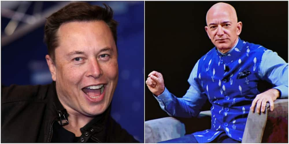Elon Musk now trails Jeff Bezos by just $3billion and is on track to become the world's richest person