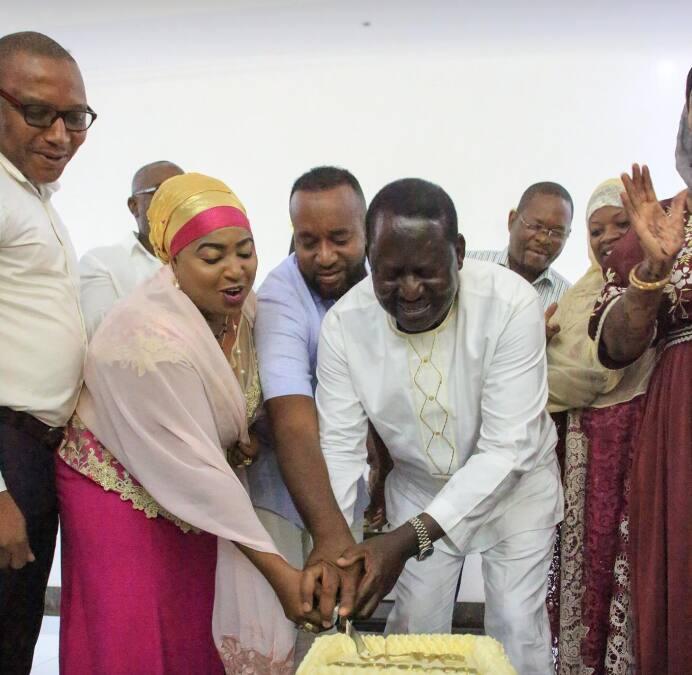 Raila Odinga allies in Mombasa stage him surprise 74th birthday celebration