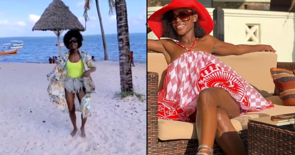 Jacky Vike dazzles in tiny beachwear during luxurious trip at the coast