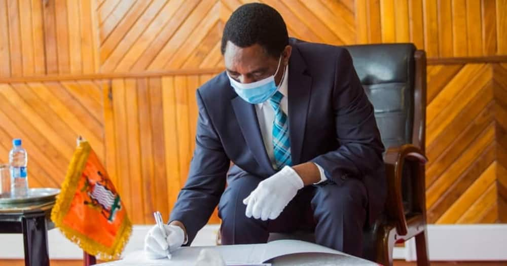 Zambian president Haikande Hichilema asked ministers to focus on service delivery.