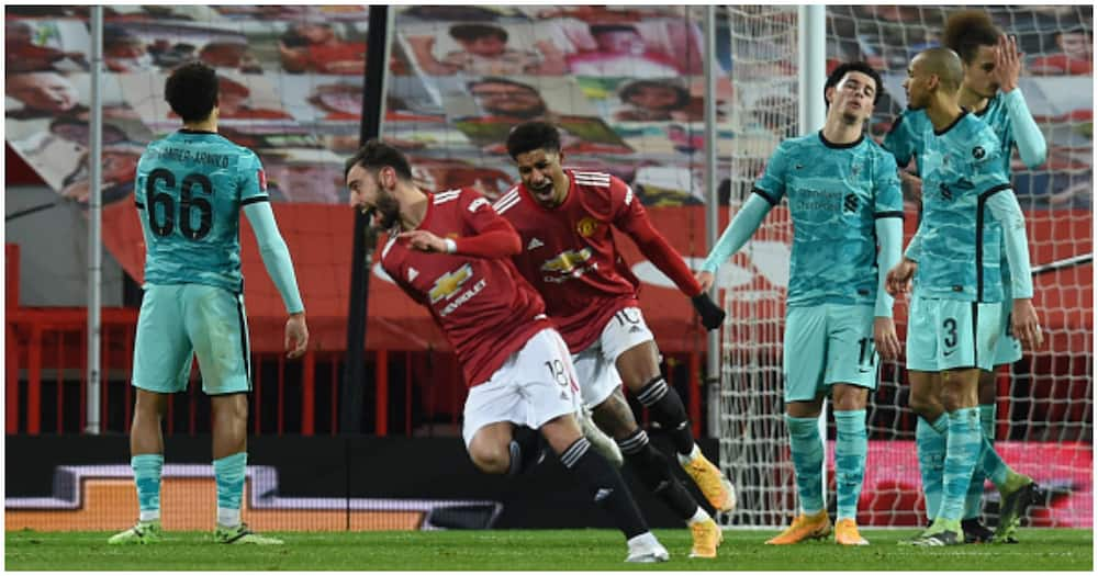 FA Cup: Greenwood, Rashford combine as Man United silence Liverpool in 5-goal thriller