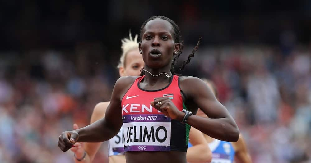 Pamela Jelimo at the Olympics.