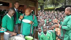 Nominated MP David Ole Sankok Visits His Former School, Enjoys Food with Students in Dining Hall