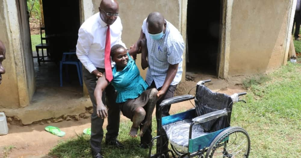 Governor Wangamati Spends Day With Disabled Woman in Village, Gives Her Son Scholarship
