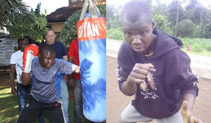 Former Kenyan boxing champion Conjestina Achieng resurfaces looking healthy after years of mental illness