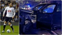 Panic as English football star suffers ghastly motor accident, left unconscious