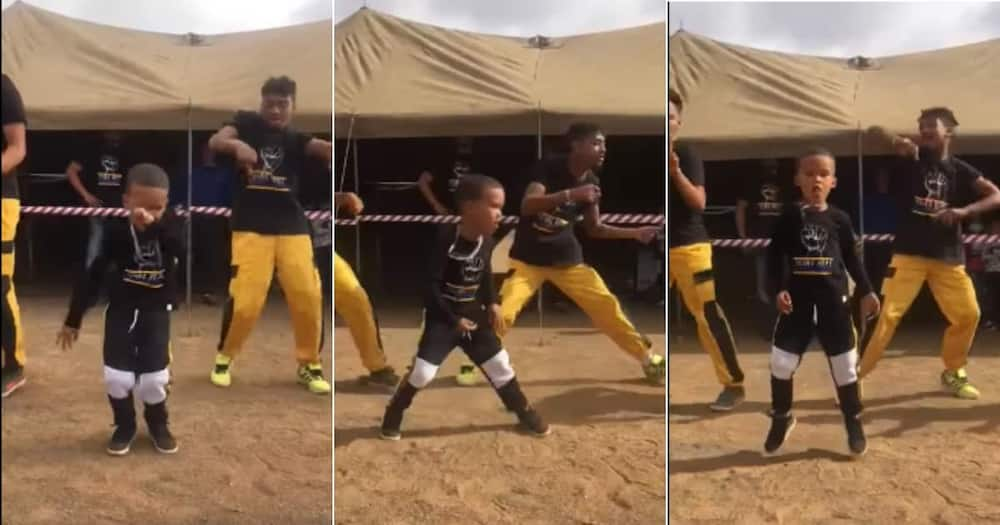 Viral video of little boy thrilling dance moves. Images: @younghopeLiberation/Facebook.