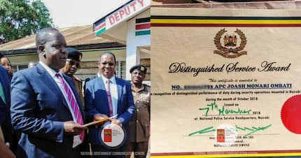 Matiang'i awards police officer who single-handedly overpowered thugs in Nairobi