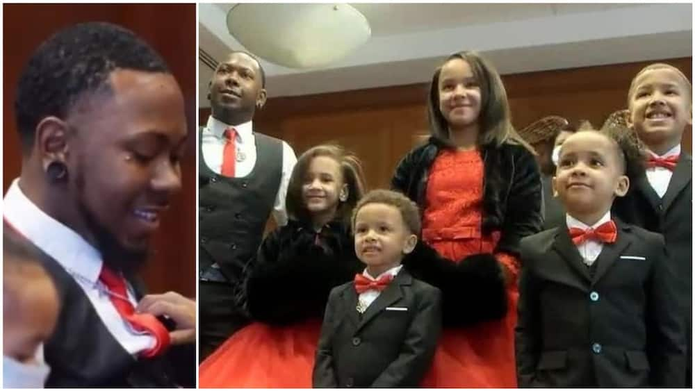 Pictures show the kids very happy to be under Carter's care. Photo source: Twitter/CBS News