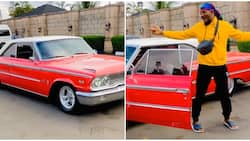 Nollywood actor Junior Pope buys himself a vintage car as early Christmas gift