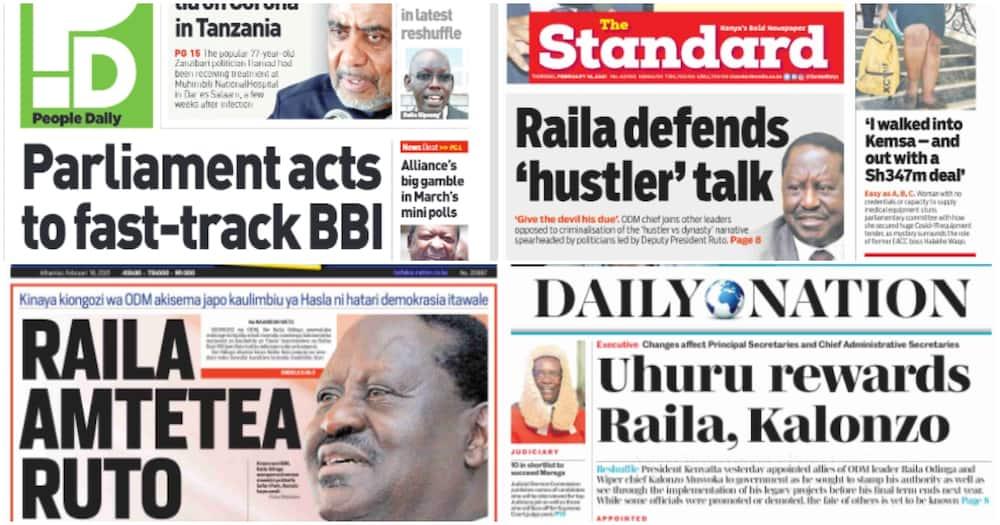 Magazeti Alhamisi: Kibicho awataka wakazi wa Mt Kenya kutofautisha BBI na Raila