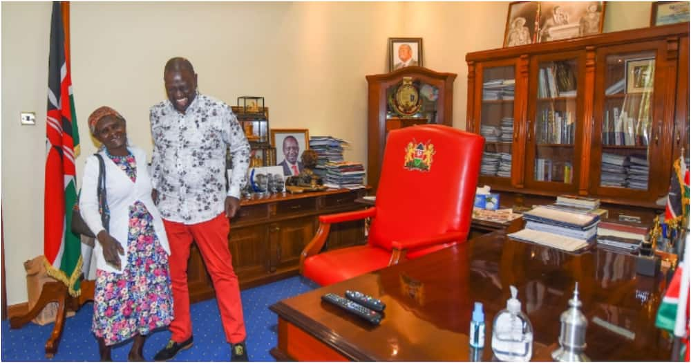 William Ruto meets grandmother who wished to see him, promises to support her farming venture
