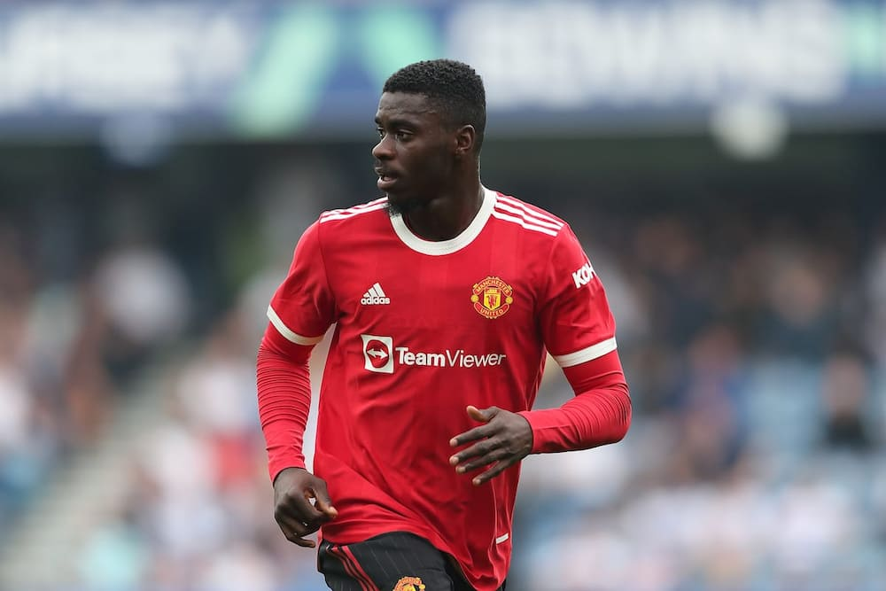 Axel Tuanzebe in action for Manchester United. Photo by James Williamson.