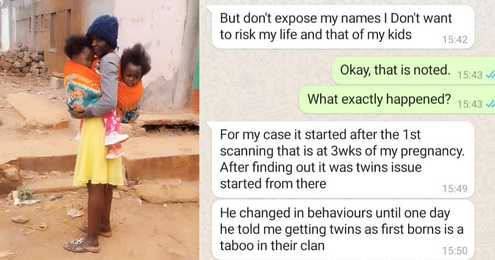 Several mothers shared their experiences on being dumped after delivering twins.
