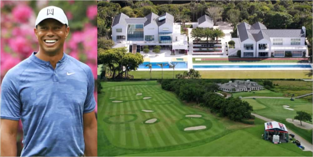 Tiger Woods' £41m mansion has an 18-hole golf course, 7-bedrooms, cinema, restaurant