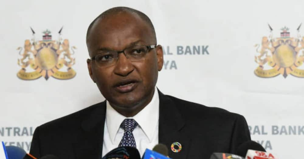 CBK boss Patrick Njoroge speaking at a past event.
