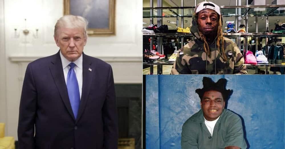 Donald Trump Pardons Lil Wayne and Kodak Black on Final Office Day.