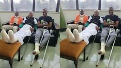 Moses Kuria Thanks Samidoh for Visiting Him in Hospital Despite Leg Injury